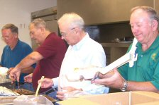 Lutheran Men In Mission cooking